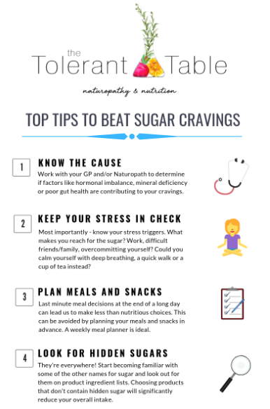 Top tips to beat sugar cravings