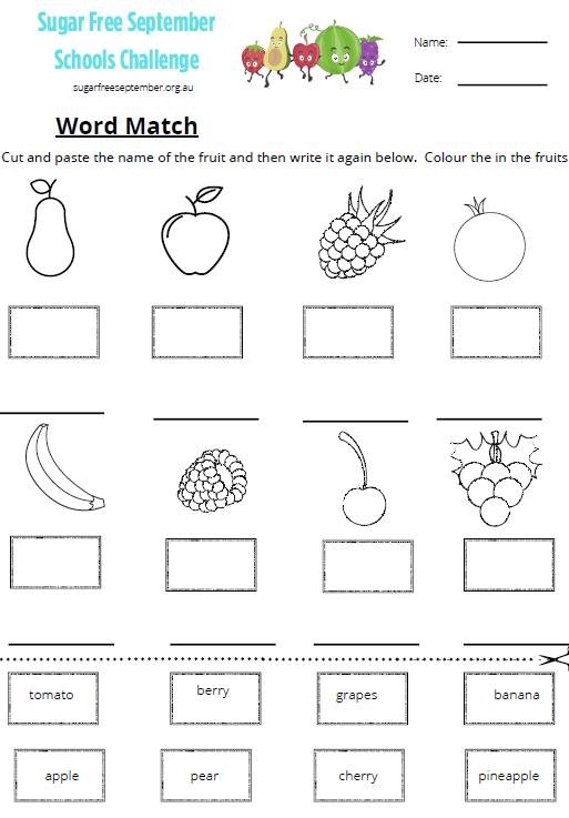 School Activity Sheets & Recipes