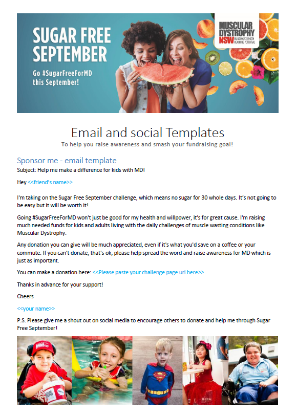 Social & email templates